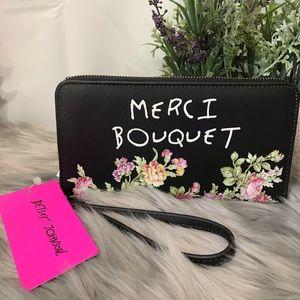 🆕 Betsey johnson Merci Bouquet Wallet Wristlet
